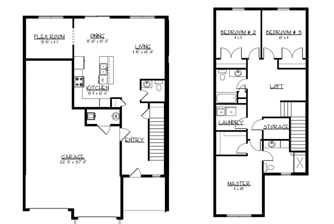Leighton drive row homes paramount builders inc for Row house layout plan